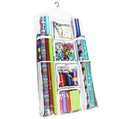 Legato Wrapping Paper Storage/Organizer, Double Sided Super Durable, Great Gift Wrap, Gift Bags Accessories, Extra Large (47  x 23 )