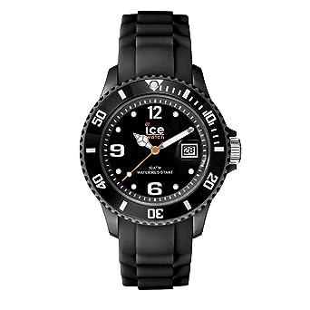 4cffe8ec3f4d8 Ice-Watch - Ice Forever Black - Montre Noire Mixte avec Bracelet en Silicone  -