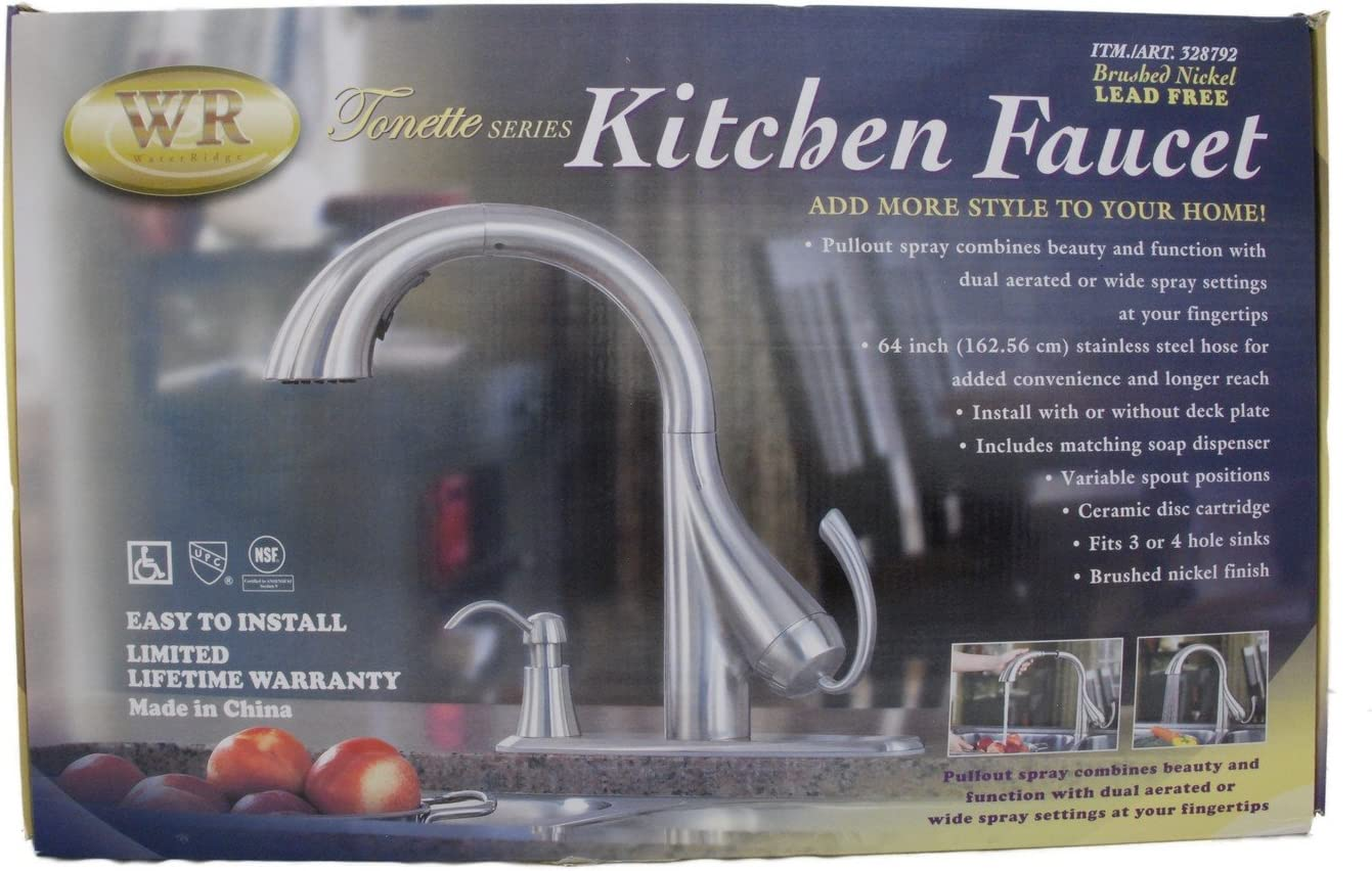 Water Ridge Tonette Series Kitchen Faucet Touch On Kitchen Sink Faucets Amazon Com
