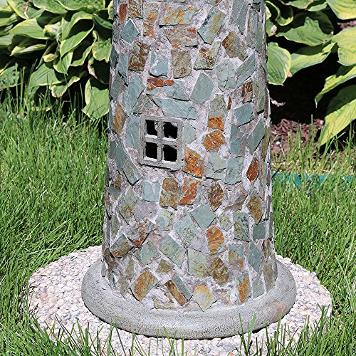 Sunnydaze-Solar-LED-Cobblestone-Lighthouse-Outdoor-Light-Decor-Statue-35-Inch-for-Garden-Lawn-and-Yard