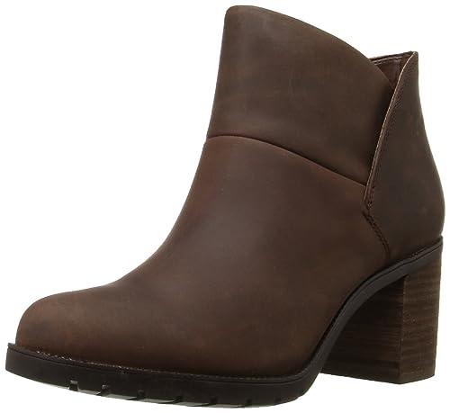 Clarks Women's Malvet Helen Boot, Brown Nubuck, ...