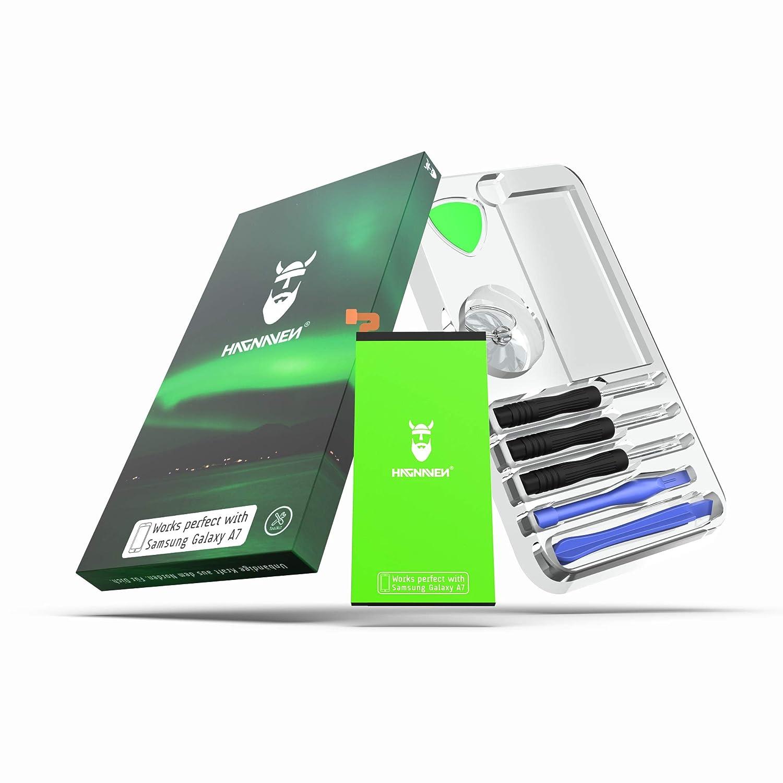 Hagnaven® Batterie Li-polymère pour Galaxy S7 Edge SM-G935F | Outils Inclus | LA Plus PERFORMANTE Batterie de Remplacément | 3700mAh CELLULES DE Haute QUALITÉ | Remplacé EB-BG935ABE