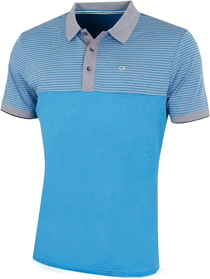 Calvin Klein - Polo - para hombre Azul Azure Small: Amazon.es ...