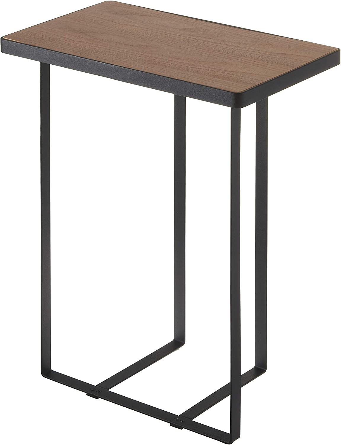 magazine stand mid century small table Occasional table Metal wood stand holder