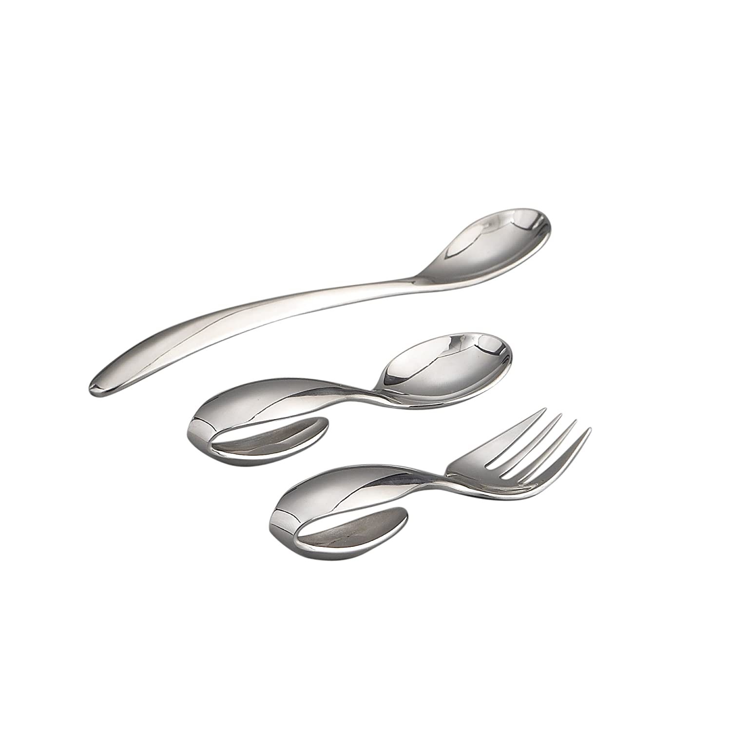 Nambe Baby Feeding Set – Loop Spoon, Loop Fork, and Feeding Spoon Nambè 7610
