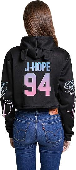 Kpop BTS Love Yourself World Tour Hoodie Jimin Suga Cat Ear Crop Top