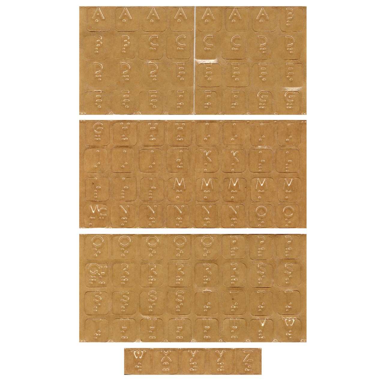 Touch to See Alphabet Braille Tactile Identification Labels