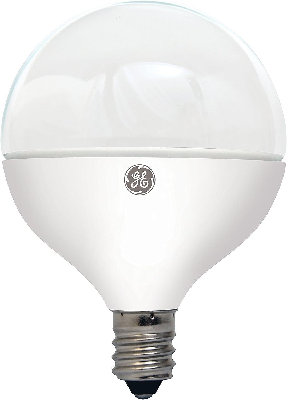 GE Lighting Decorative Bulb, Candelabra LED Bulbs, Soft White, 1-Pack, G16, Dimmable, Candelabra Base