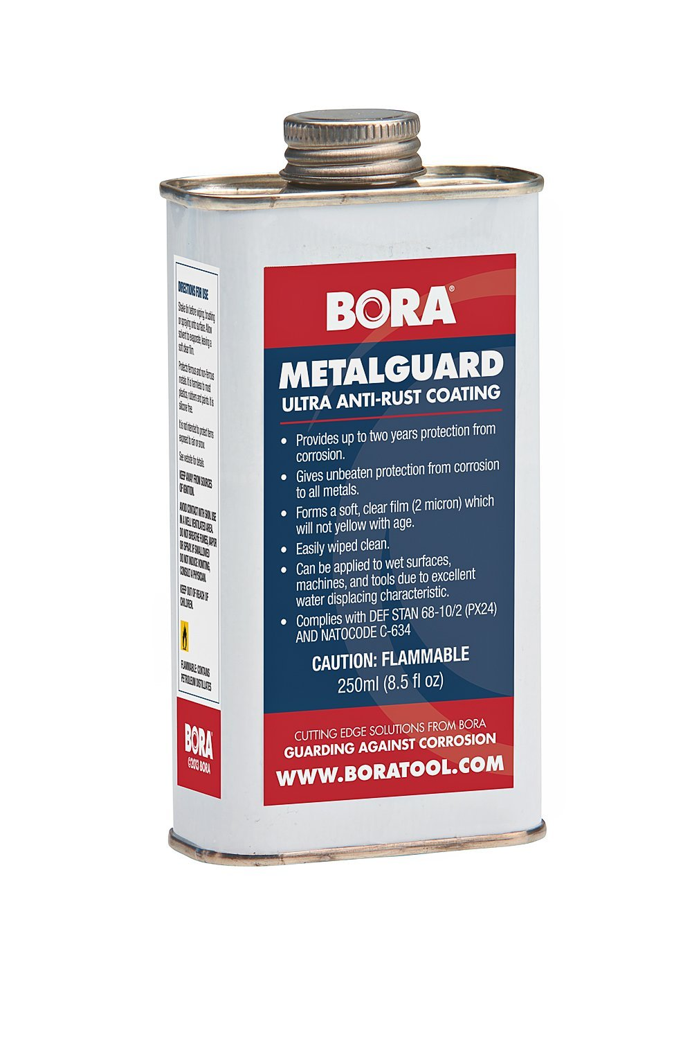 MetalGuard Ultra Anti Corrosion Treatment-Bora STN-MGU250 250ml can. Protects Your Tools and Machines from Rust and Corrosion for up to Two Years.