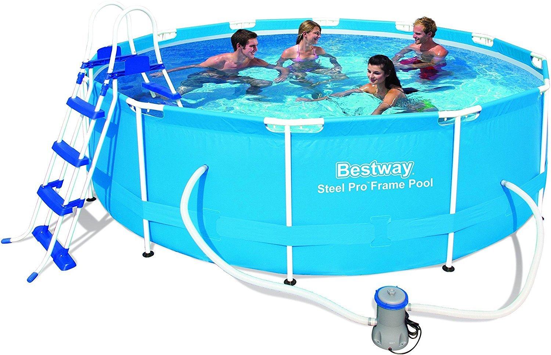 Bestway 12 pies x 39.5-inch 366 x 100 cm acero Pro marco piscina ...