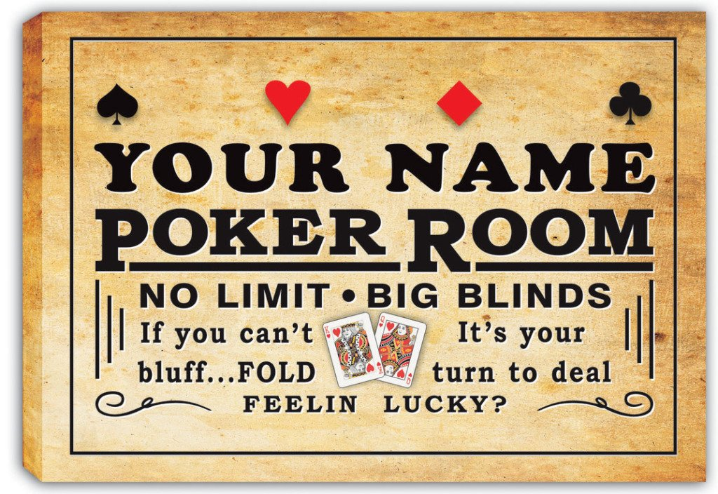 Amazon.com: scpd1-tm Personalized Poker Room Casino Stretched Canvas ...