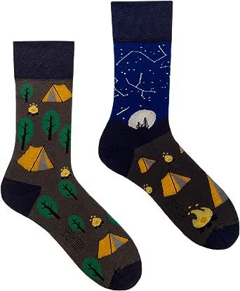 Spox Sox Casual Unisex - calcetines de algodón coloridos, ocasionales para individualistas - calcetines multicolores, divertidos, elegantes y originales para hombres y mujeres - regalo divertido.