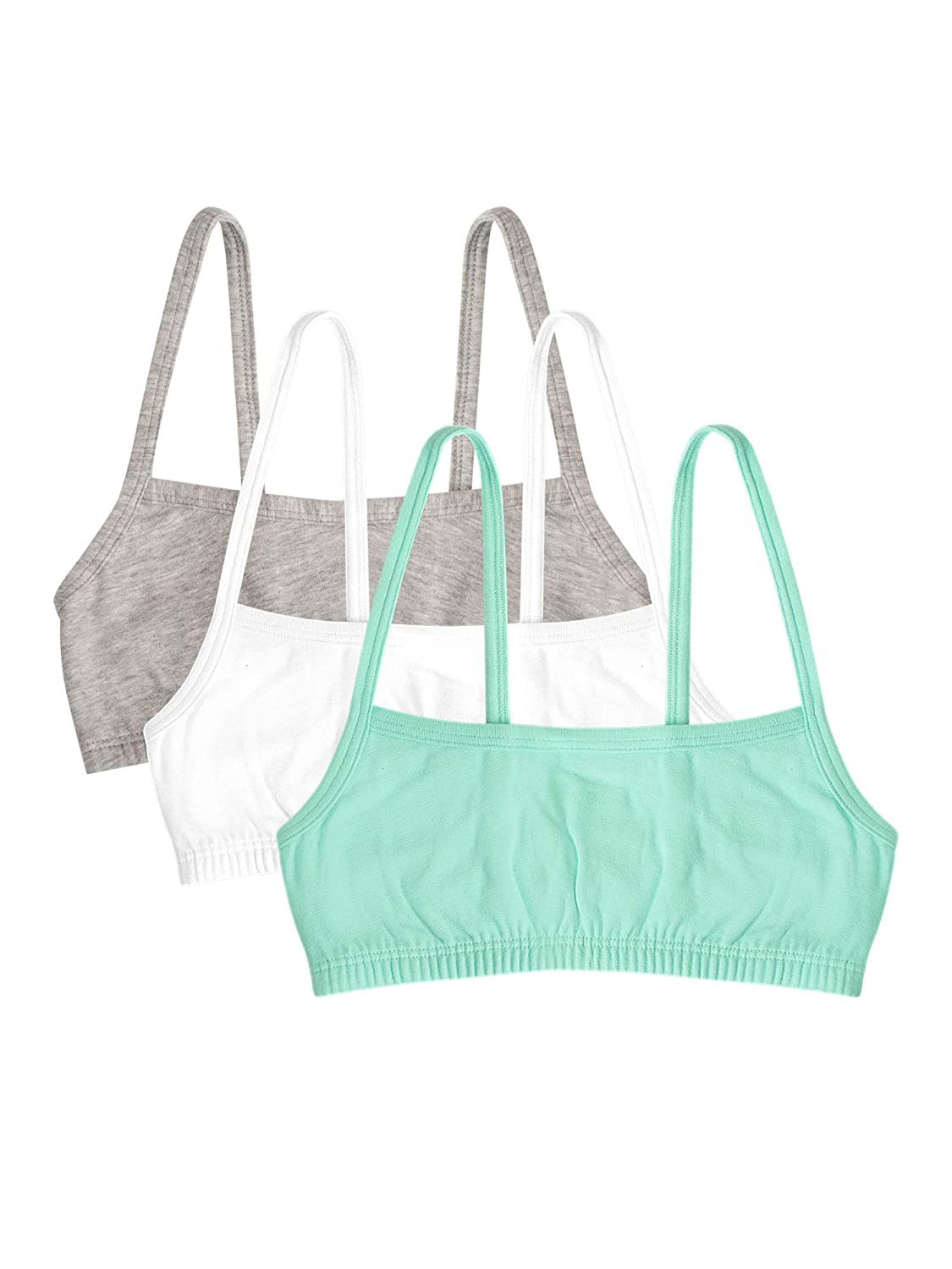 Fruit of the Loom Girls Cotton Spaghetti Strap Sport Bra Fruit of the Loom Girls 7-16 Bras 94021