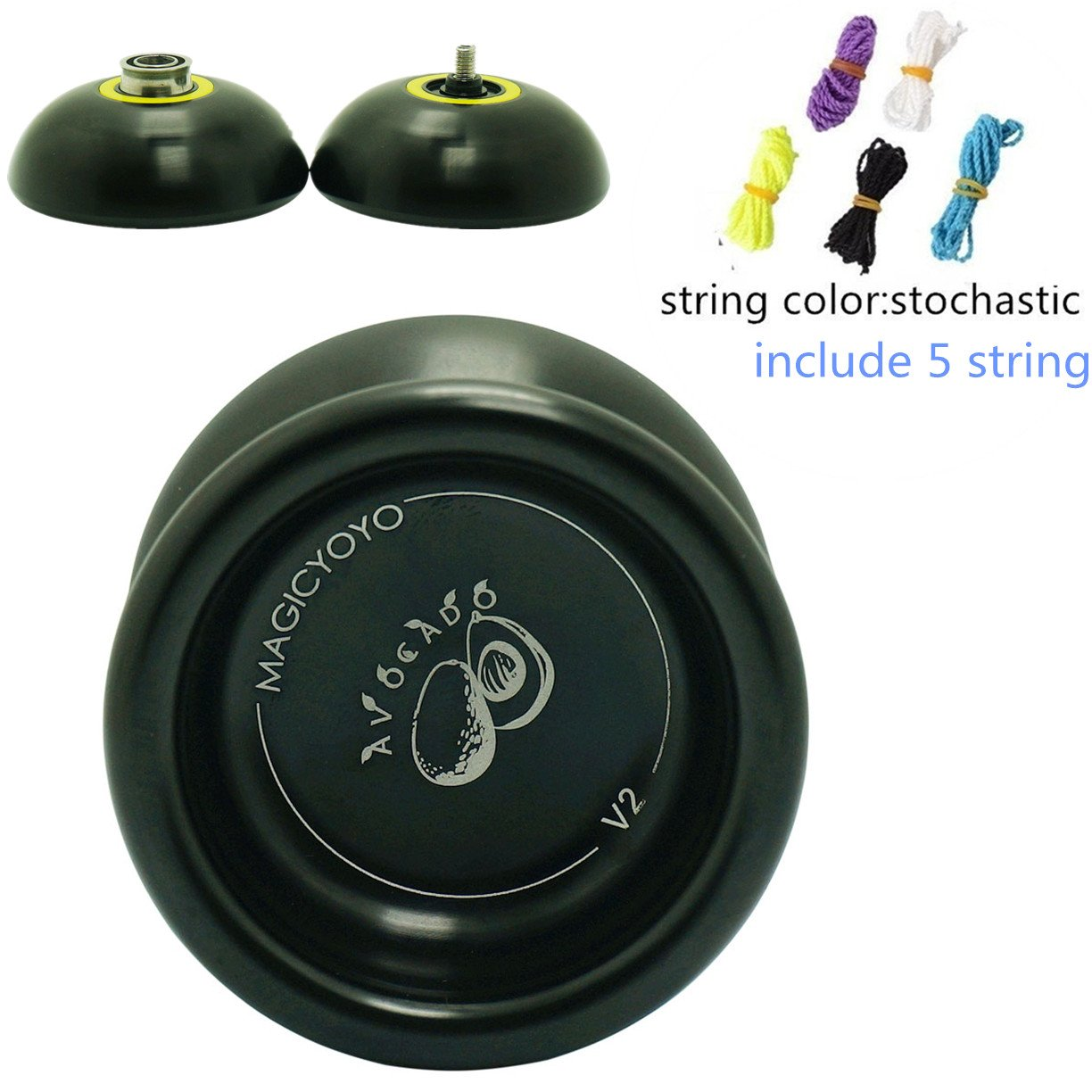 Yo Yos Party Favors Magicyoyo AVOCADO Pattern Black Yoyo Ball Unresponsive Yo Yos for Professional