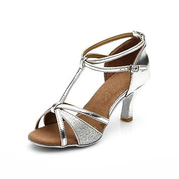 Latino Tacón Mujer Altomedio 40 Vesi De 7cm Para Plata Zapatos Baile tacón dCerxBoW