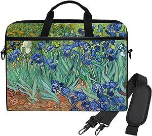 WIHVE Laptop Shoulder Bag Van Gogh Irises 14 13inch Laptop Case for Women Men