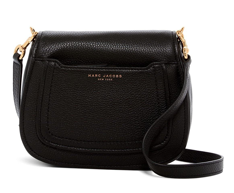 743b8320 Marc Jacobs Empire City Mini Messenger Leather Crossbody Bag: Amazon ...