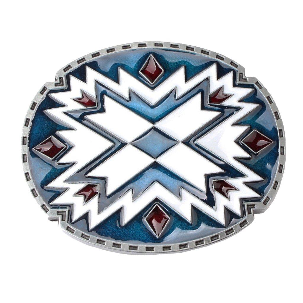 Baoblaze Zinc Alloy Belt Buckle Novelty Cowboy Belt Buckle Southwest Indian Art For Men Women For Jeans