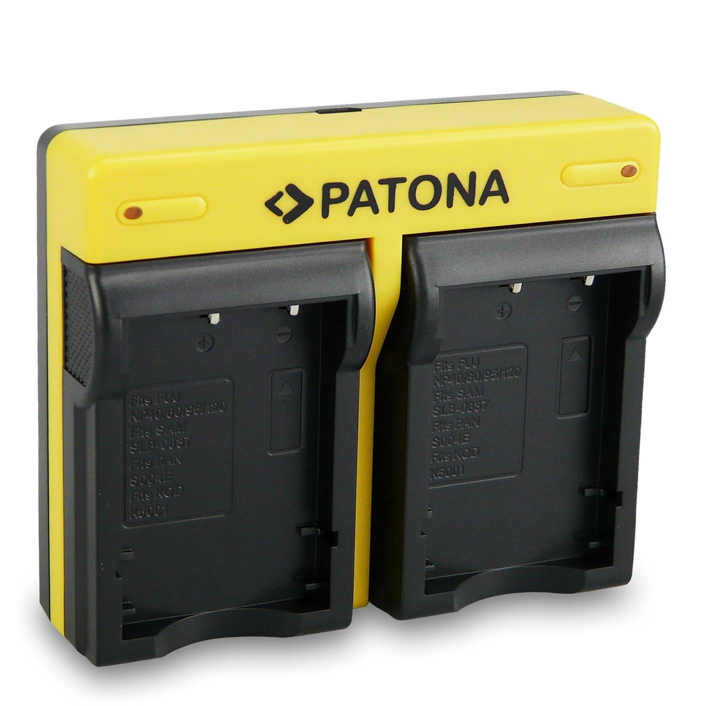 PATONA Dual Cargador Fuji NP-95 con micro USB + 2x Bateria para Fujifilm FinePix F30 F31fd Real 3D W1 X100 Fujifilm X-S1 X30 X100S X100T