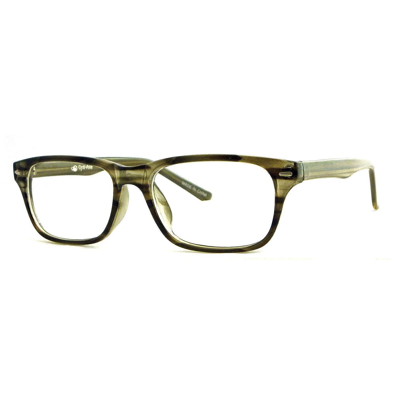 NERD Optical Men Women Trendy Frame Clear Lens Eye Glasses BLACK//STRIPE
