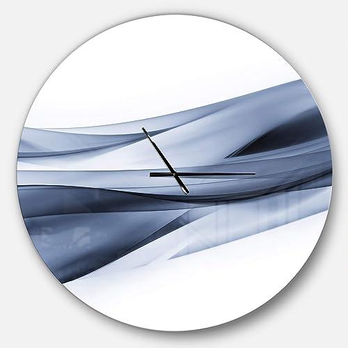 Designart Blue Glittering Light Pattern' Oversized Modern Metal Clock