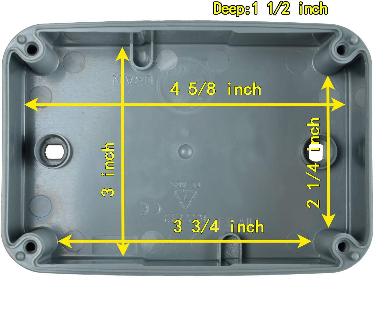 SuperInk 5 Pack Dustproof Electrical Junction Box Connector 9-Pole Waterproof Enclosure Case fit 20mm Cable Gland for Outdoor Use 125x86x62mm IP66 Rated
