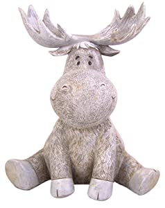 Roman Pudgy Moose 9.5 Inches Height Garden Figurine