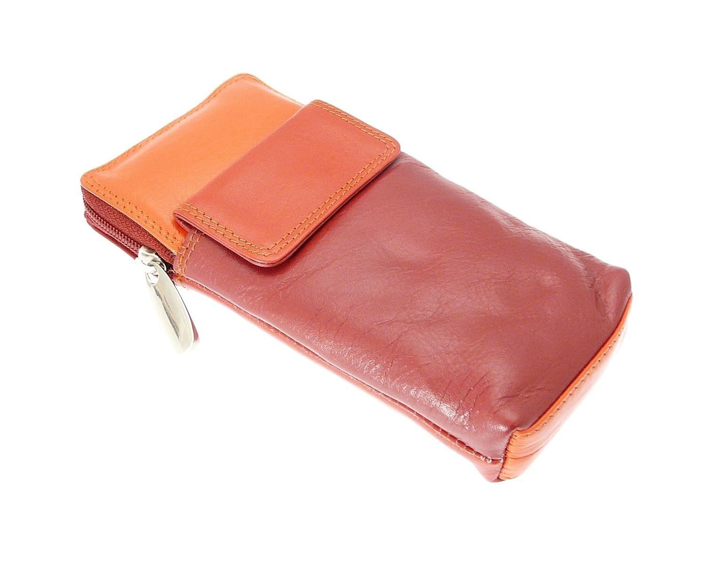 Alta qualità spettacolo in morbida pelle / occhiali caso titolare. Colore rosso.