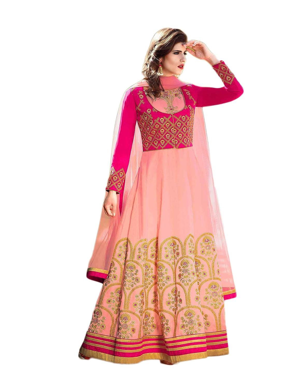 Indian Bollywood Designer Ethnic Silk Anarkali Salwar Kameez Un-Sttiched S1300 55001300