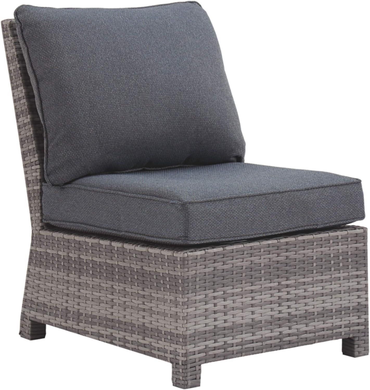 Signature Design by Ashley P440-846 Salem Beach Armless Chair, Gray
