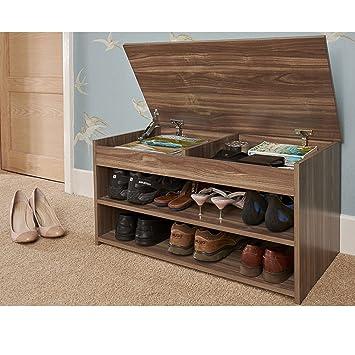 Zapato Otomano mueble de nogal madera pasillo banco de ...