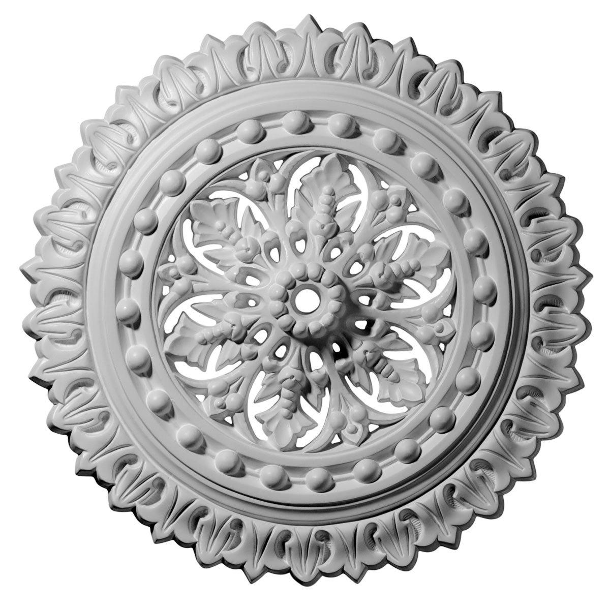 Ekena Millwork CM18SK 18 1/2-Inch OD x 1 1/8-Inch ID x 1 1/2-Inch Sellek Ceiling Medallion