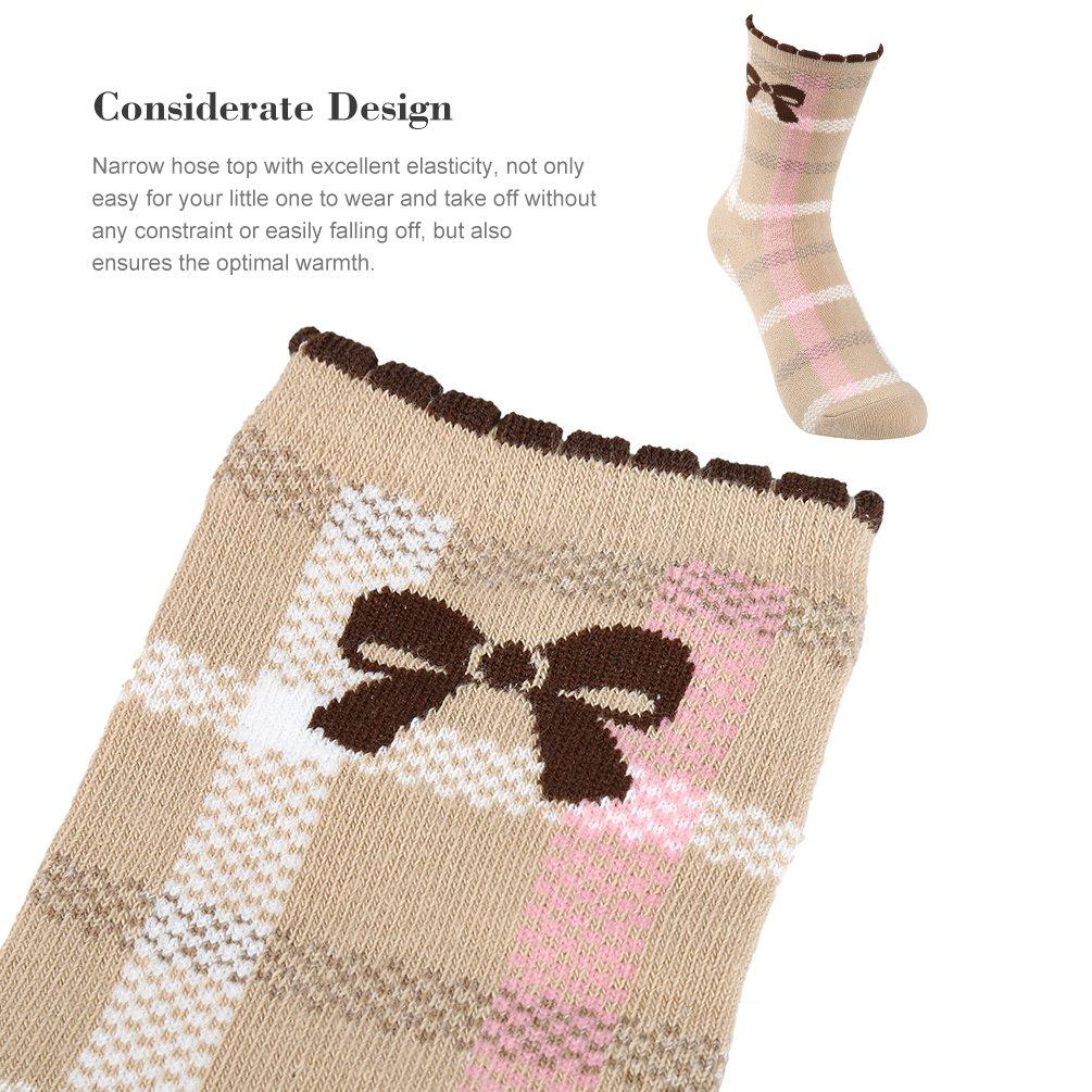 VBG VBIGER Girls Cotton Crew Seamless Socks Cute Novelty for Baby Toddler Kids 10 Pack ¡ by VBG VBIGER (Image #5)