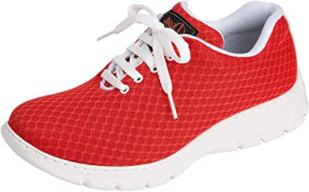 Zapatilla Tipo Blucher Unisex de la Marca DIAN, en Microfibra Color Rojo - calpe-57
