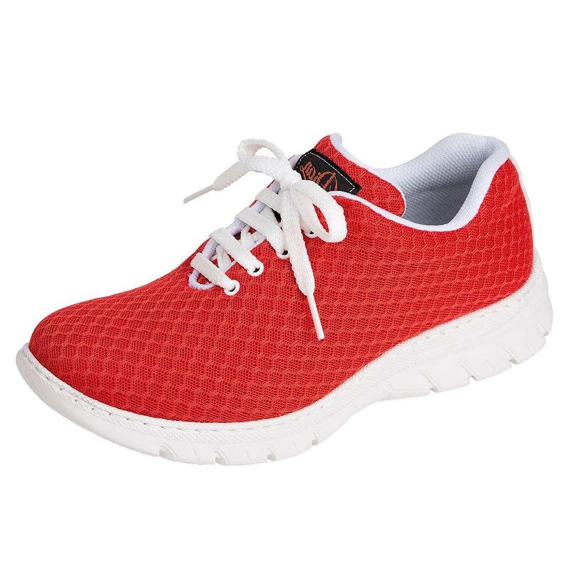 en Microfibra Color Rojo calpe-57 Zapatilla Tipo Blucher Unisex de la Marca DIAN