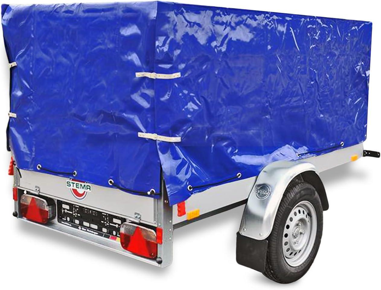 Proplus Anhänger Hochplane Blau Mit Gummigurt 2090 X 1140 X 880 Mm Für Anhänger Auto