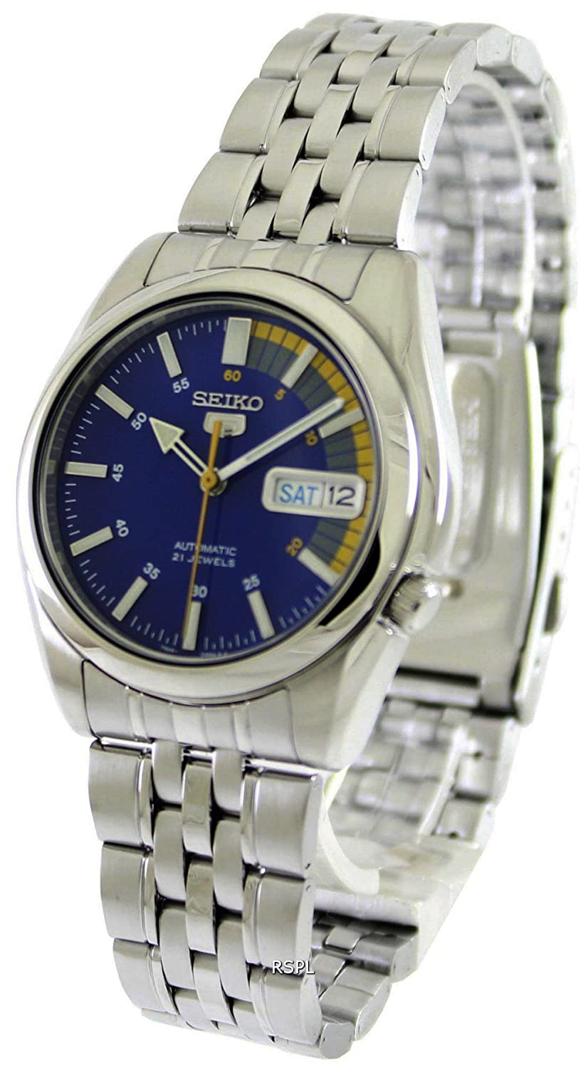 ee6a2cb4b6e Amazon.com  Seiko Men s SNK371K Seiko 5 Automatic Blue Dial Stainless Steel  Watch  Seiko  Watches