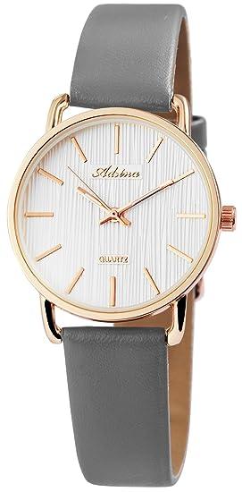 Reloj mujer Blanco Plata Gris Oro analógico de cuarzo piel Reloj de pulsera