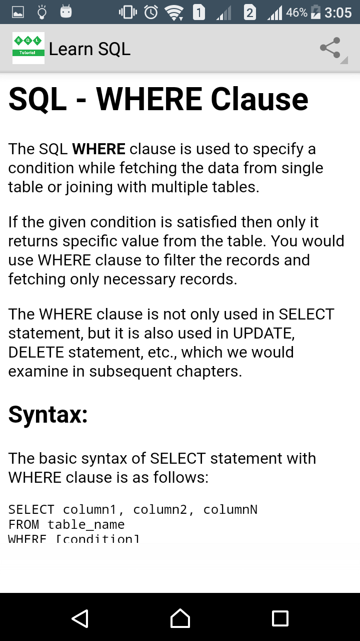 Select statement for multiple tables gallery periodic table images sql join syntax multiple tables images periodic table images amazon learn sql appstore for android 000 gamestrikefo Images