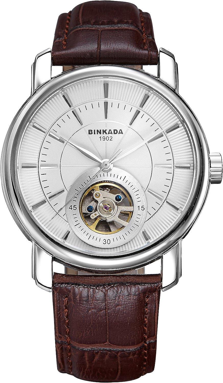 BINKADA 3ポインタfor Man自動機械ホワイトダイヤルメンズ腕時計# 708102 – 1 B014WLBEWK