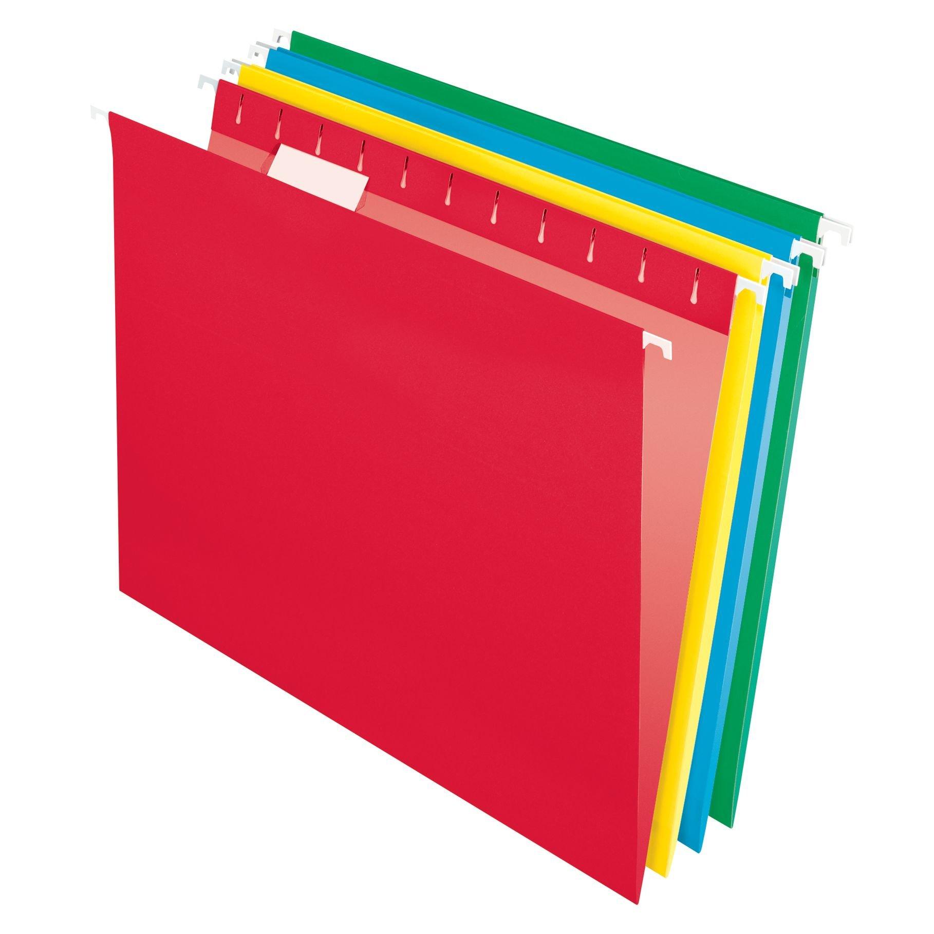 Pendaflex Essentials Hanging Folders, Letter Size, Assorted Colors, 25 per Box (75708) by Pendaflex