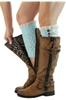 Boot Cuffs Vintage 3 Button Style Women's Boutique Socks Brand by Modern Boho