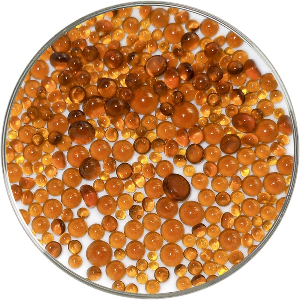 1oz Made from Bullseye Glass Dark Amber Transparent Frit Balls 90COE