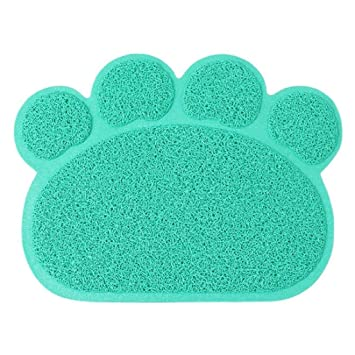 CHONGWFS Alfombrilla De Ráton para Gatos Alfombra De Felpudos Alfombrilla para Perros Alfombrilla para Perros Material para Mascotas Multiusos Plegable ...