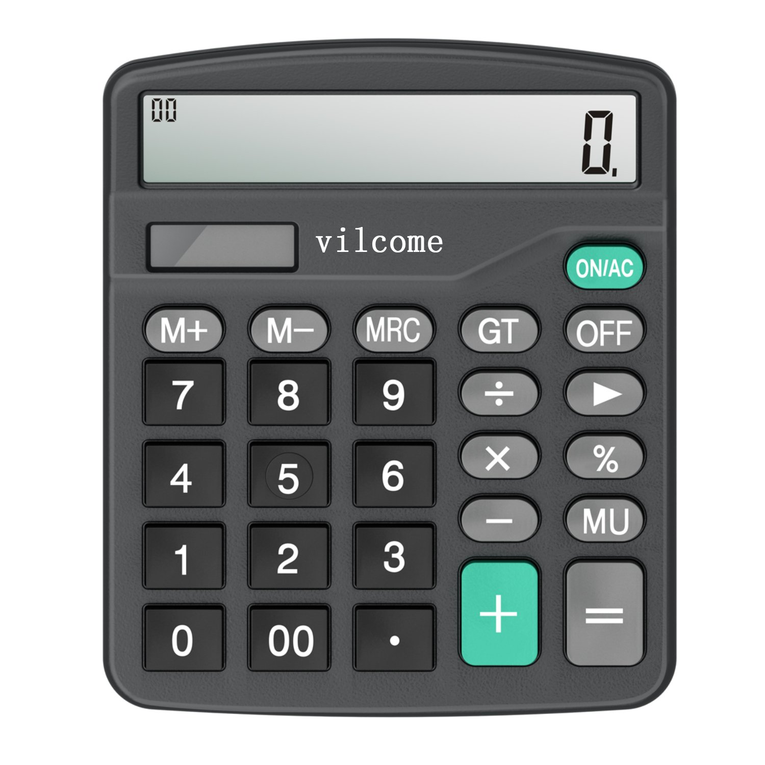 Calculator, Vilcome Standard Function Desktop Calculator with 12 Digit Large Display, Solar Battery LCD Display Office Calculator