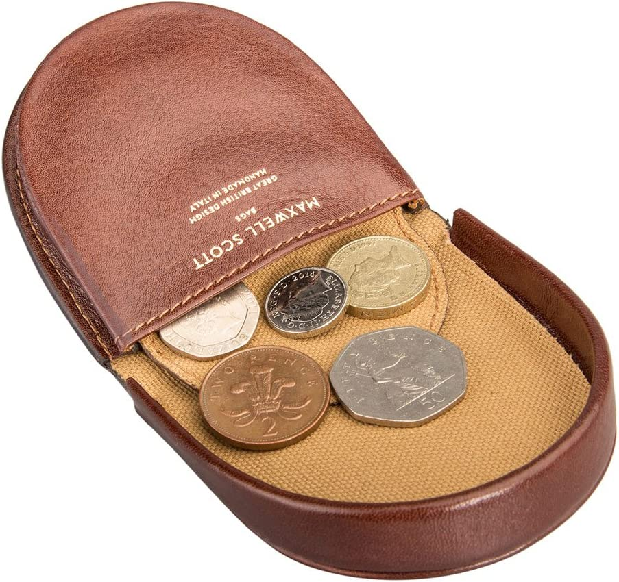 The Savino Maxwell Scott/® Luxury Black Leather Horseshoe Coin Wallet One Size