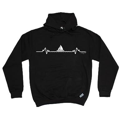 5676916ce Ocean Bound Premium Sailing Pulse Design - Hoodie Hoody/Sailing Fashion  Clothing: Amazon.co.uk: Clothing