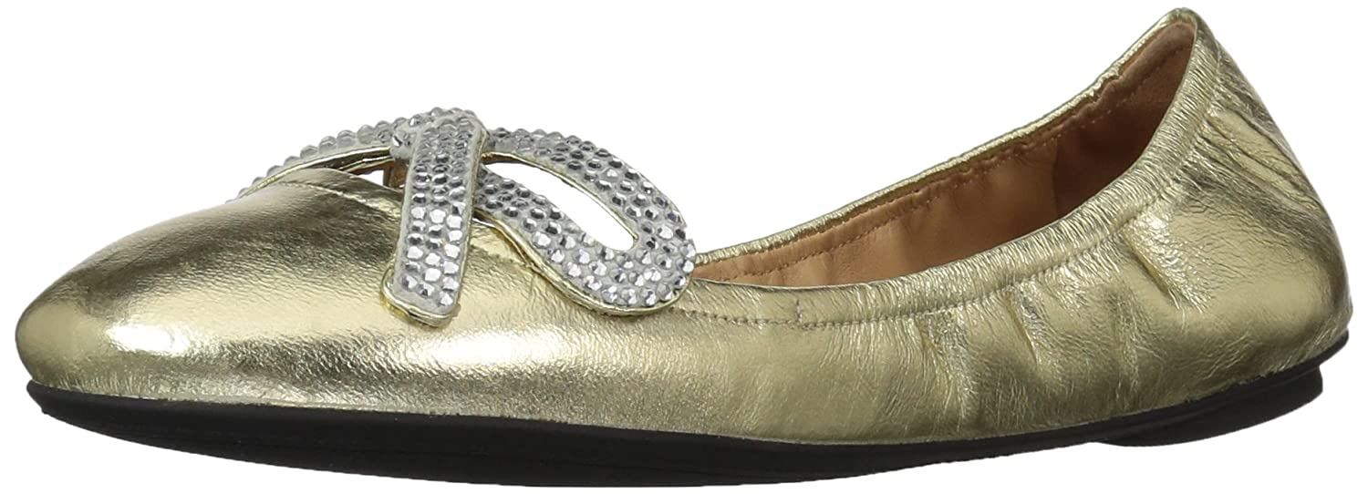 Marc Jacobs Women's Willa Strass Bow Ballerina Ballet Flat B071XB8JZ2 39 M EU (9 US)|Gold