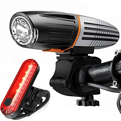 Rechargeable LED Bike Lights Set T6 Super Bright Front /& Rear Mountain MTB Lamp