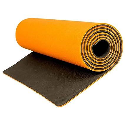 aerolite premium double color yoga mat 10mm sunrise orange 72 in